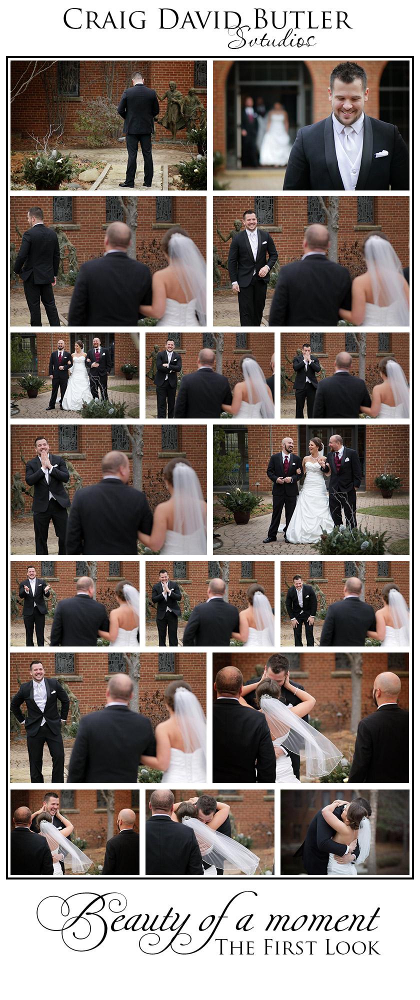 Wedding First Look - Craig David Butler Studios