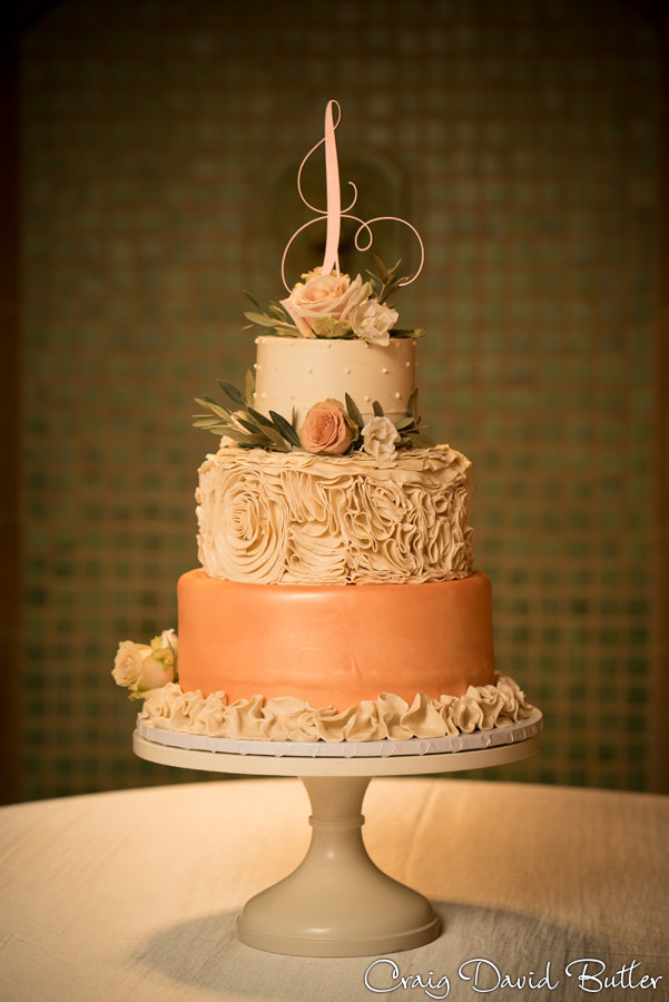 Wedding cake detail photo