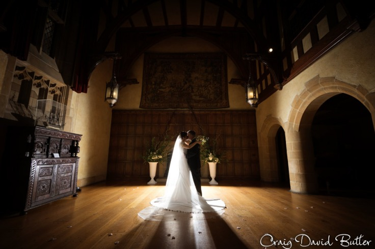 Bride & Groom creative photo at Meadow Brook Hall