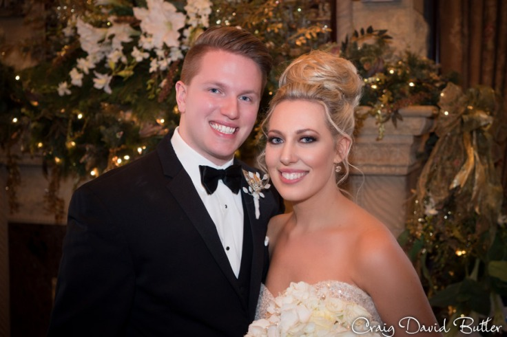 Portrait of the bride and groom at the Reserve