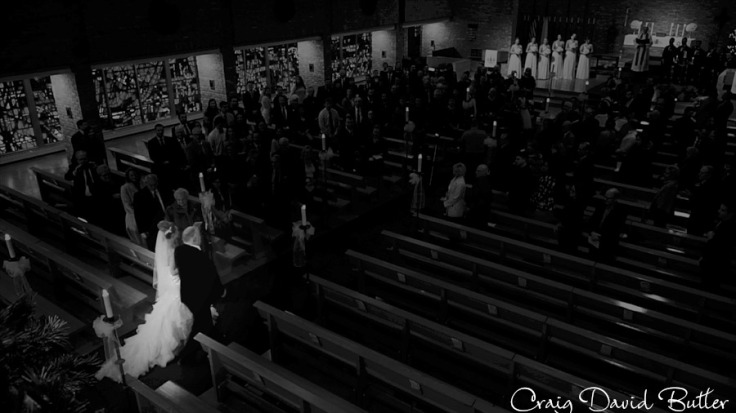 Shannon and her father during the processional