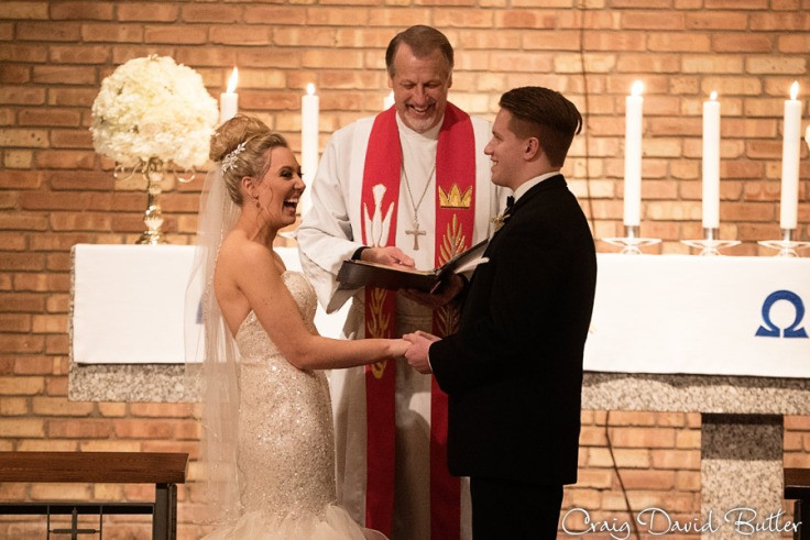 Bride & Groom say their vows in Birmingham MI