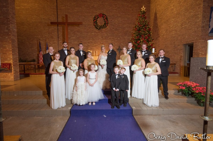 Bride and groom with the Bridal Party in Birmingham MI