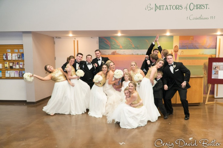 Fun photo of the Bridal party in Birmingham MI