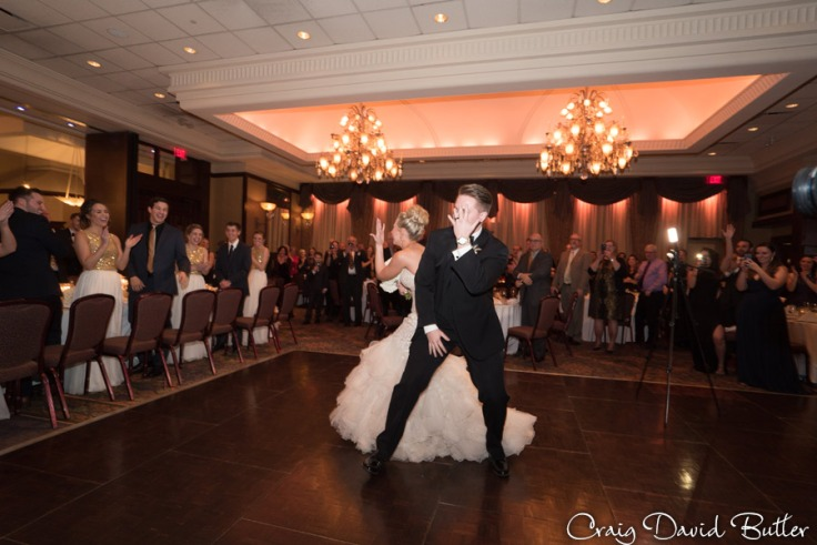 Shannon & Nathan entering the Reception Hall at The Reserve in Birmingham MI