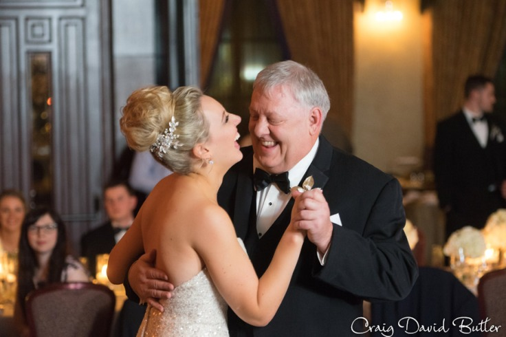 Bride and her dad during the father daughter dance at the reception.