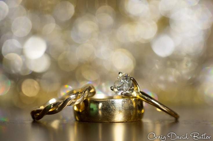 Macro photo of wedding rings - detroit
