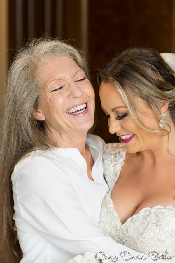 mother of the bride and bride portrait