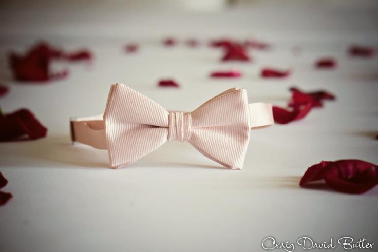 Grooms Pink Bowtie