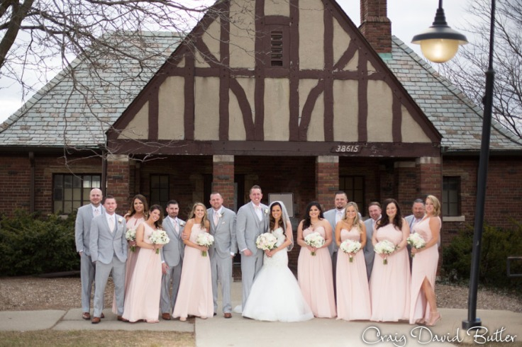 Bridal Party photo at Hines Park
