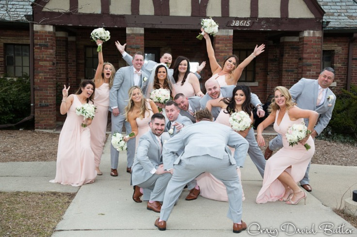 Hines Park fun bridal party photo
