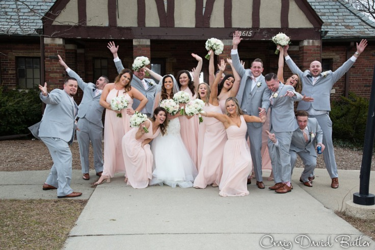 Bridal party fun photo - Hines Park Mi
