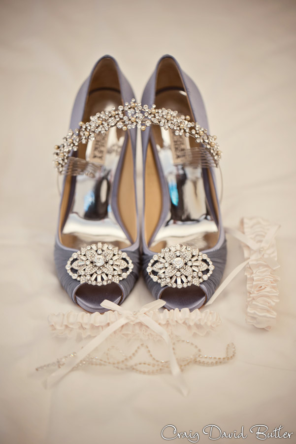 Meghan's Wedding details - shoes, garter, tiara.