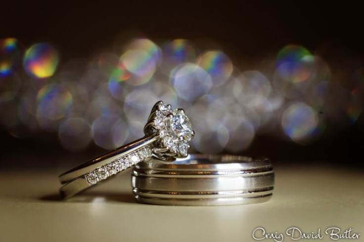 Macro photo of wedding rings