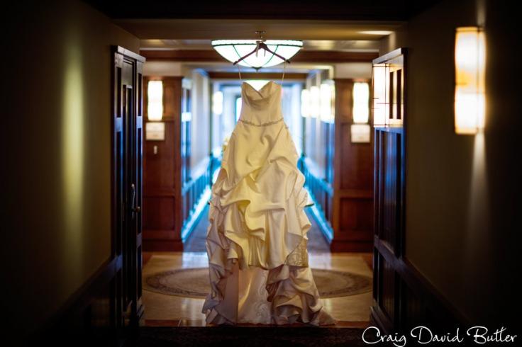 Wedding gown detail photo.