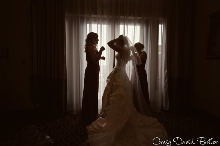 Bride getting ready - veil