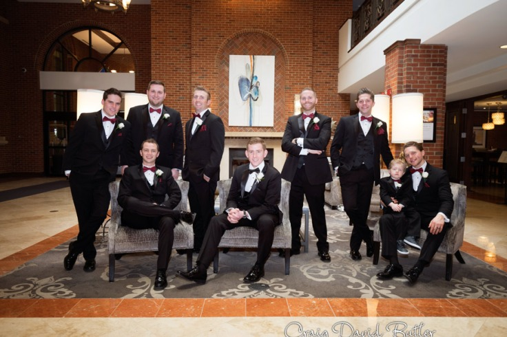 Groom and groomsmen portraits in Plymouth MI