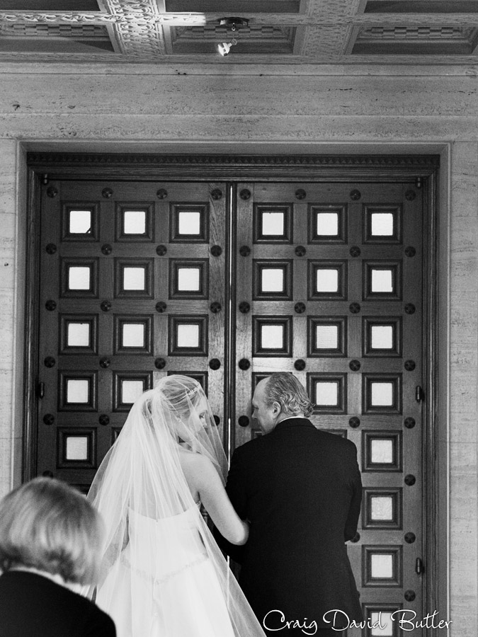 Wedding portrait of Dad of bride st. John's chapel