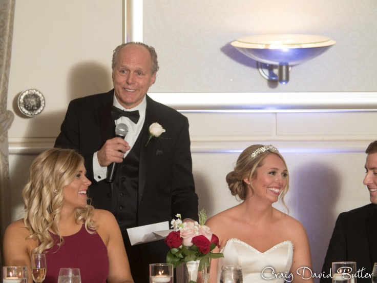 Father of the bride toast during the reception