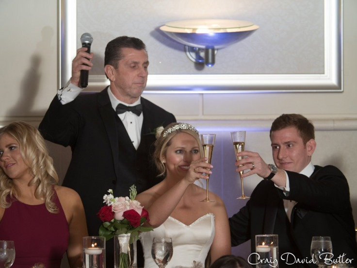 father of the groom toast in the grand ballroom st. John's