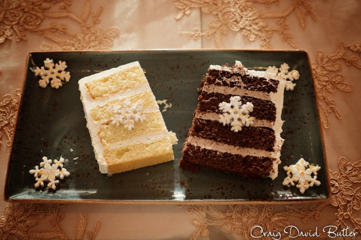 wedding cake served at the reception.