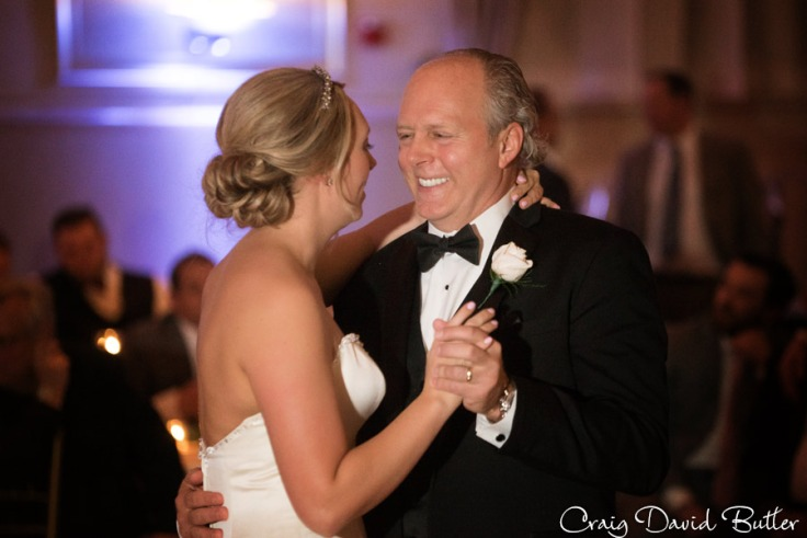 Wedding portrait of Bride and dad during their dance