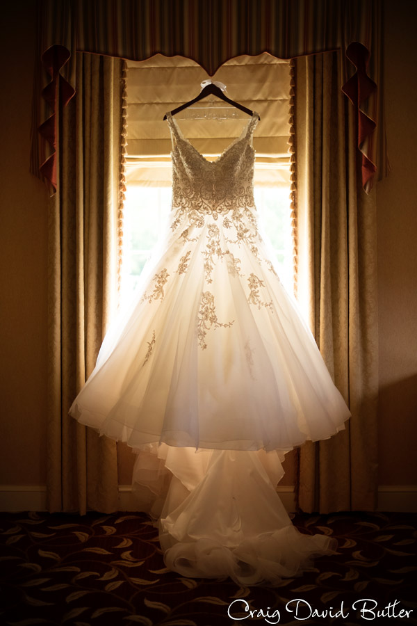 Bride's gown at the dearborn Inn