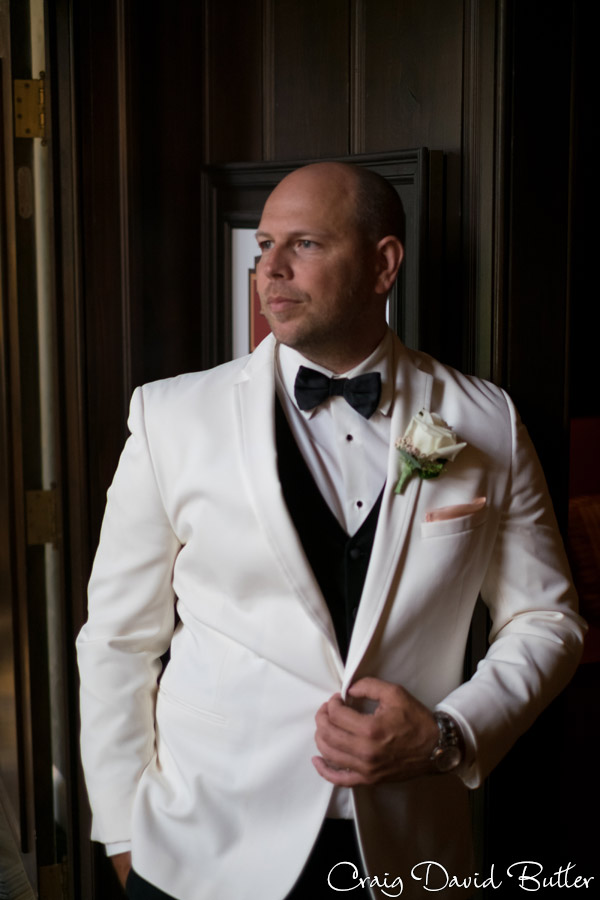 Portrait of the Groom at the Dearborn Inn