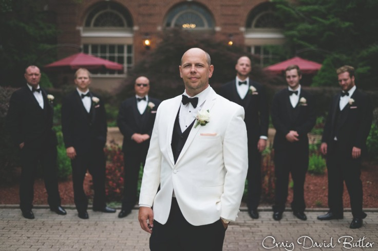 Groom and Groomsmens at the Dearborn Inn