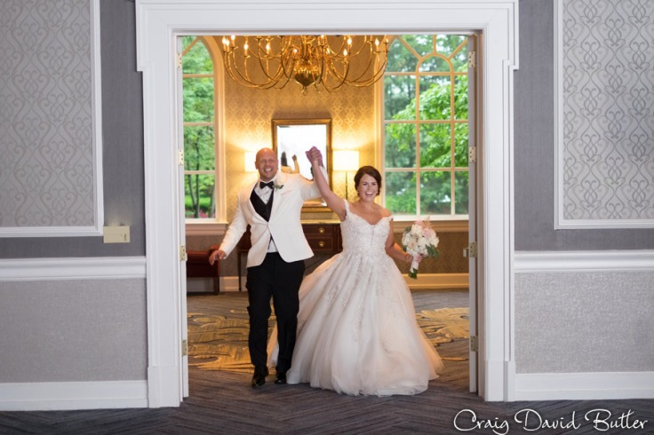 Bride & Groom enter the Grand Ballroom at the Dearborn Inn.