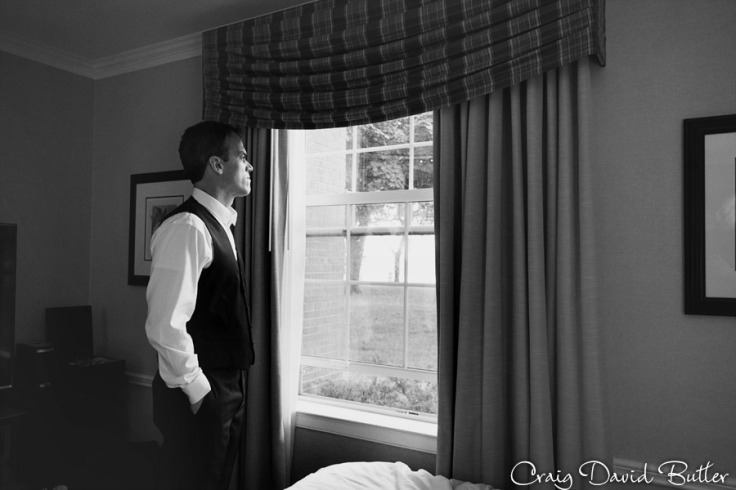 Groom portrait at the Dearborn Inn