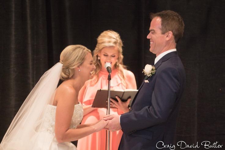 Bride & Groom Vows at the Dearborn Inn