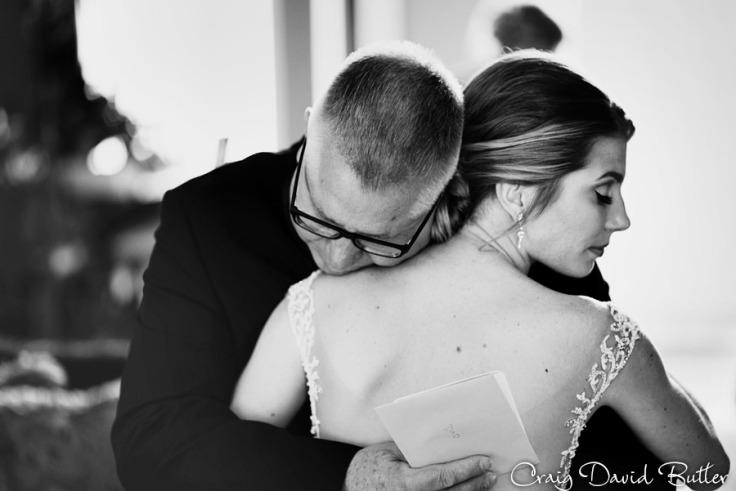 Bride & Dad on her wedding day