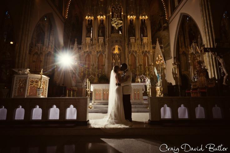 Bride & groom star portrait