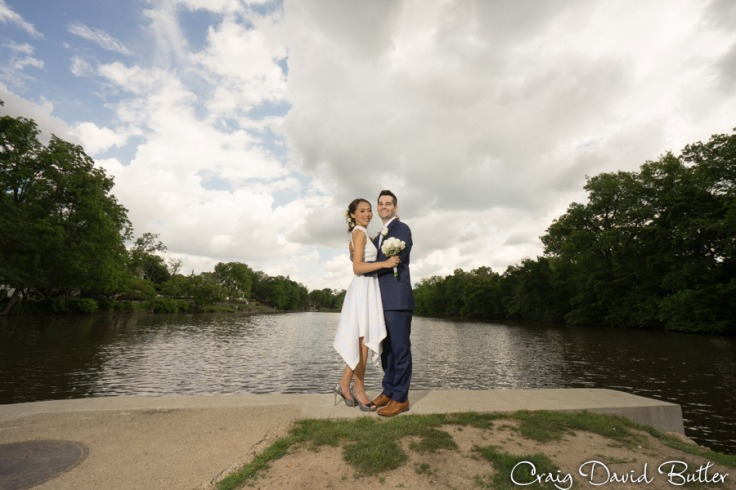 Mill Race village in Northville - wedding photos by Craig David B