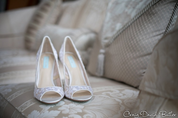 Betsy Johnson, Bride's wedding shoes.