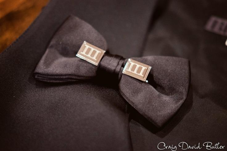 Groom's details, cufflinks bowtie