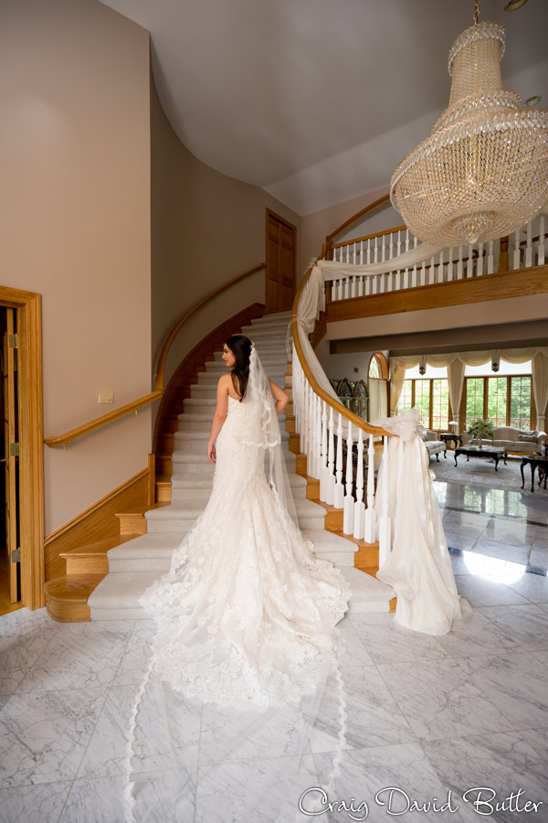 Full length portrait of Bride Farmington Hills MI