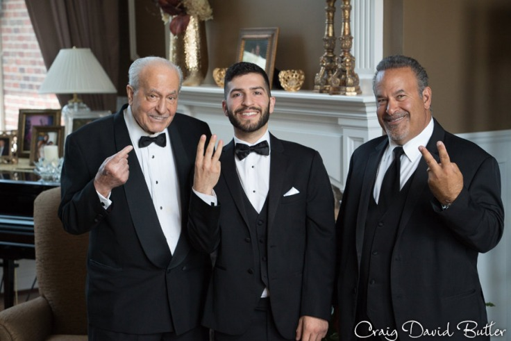 Groom with Father and Grandfather - Farmington Hills Wedding