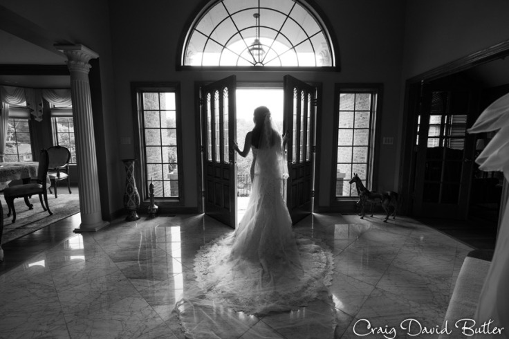 Bride portrait getting ready to go- Farmington Hills MI