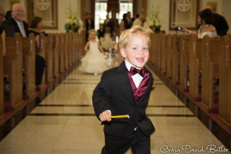 The Ring Bearer during the processional