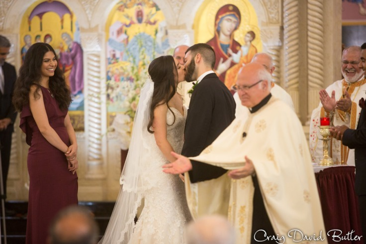 Wedding ceremony at Basilica of St. Mary in Livonia by Craig David Butler