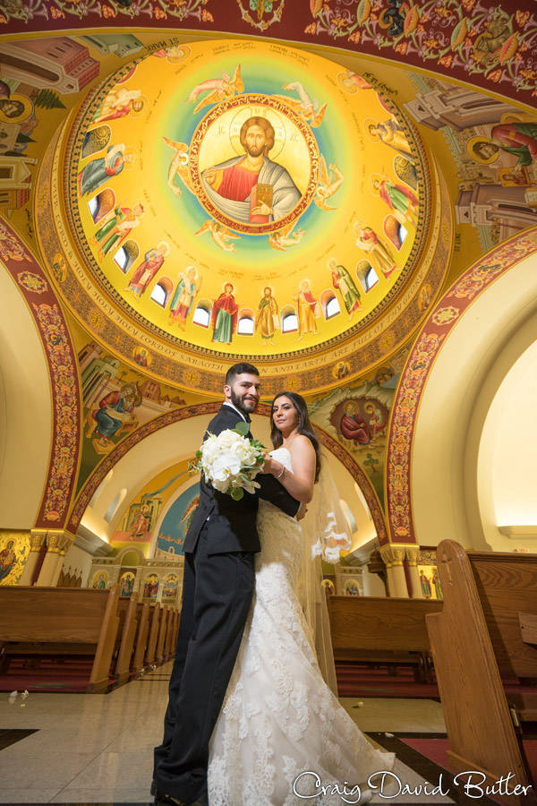 Georgie and Andrew at the Altar at Basilica of St. Mary in Livonia by Craig David Butler