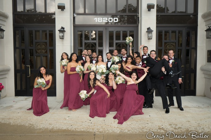 Bridal party at Basilica of St. Mary in Livonia by Craig David Butler