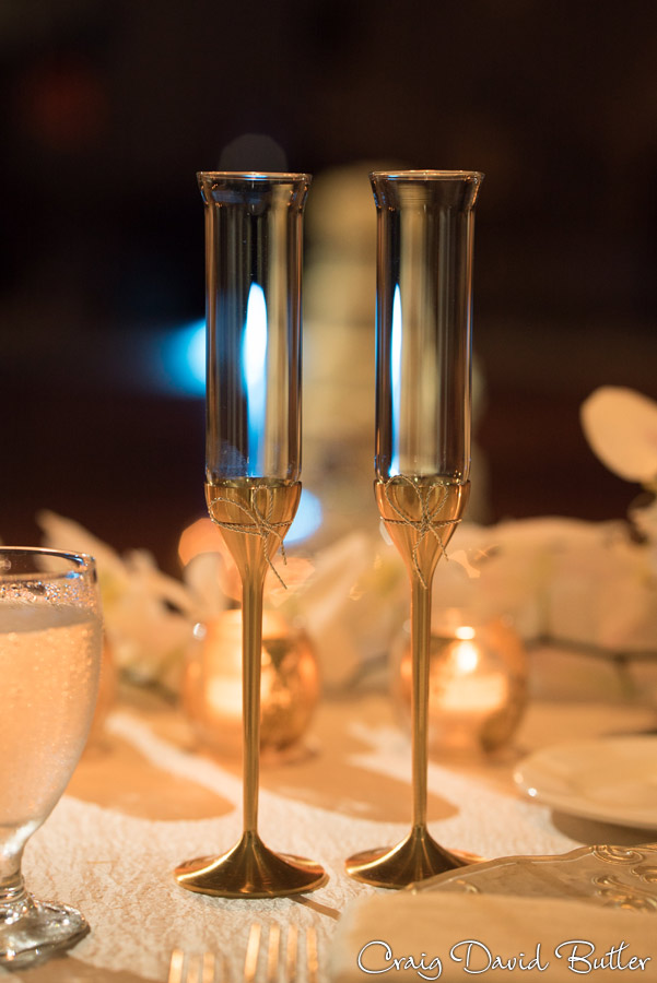 Champagne Flutes The Henry Wedding reception in Dearborn by Craig David Butler