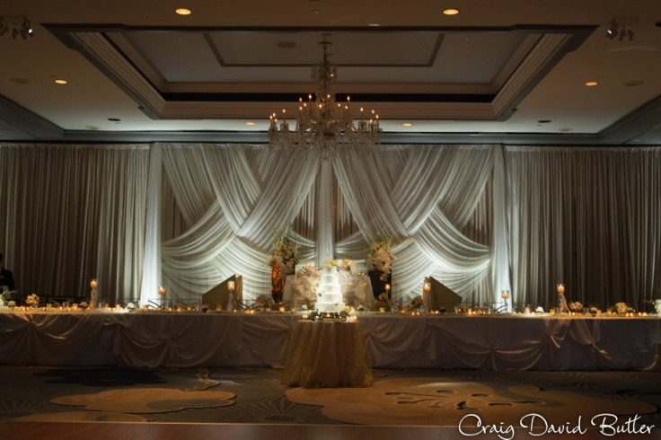Head Table at The Henry Wedding reception in Dearborn by Craig David Butler