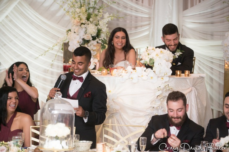 Best Man toast The Henry Wedding reception in Dearborn by Craig David Butler
