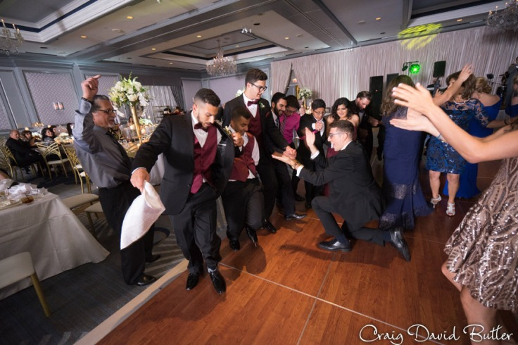 Greek dancing The Henry Wedding reception in Dearborn by Craig David Butler