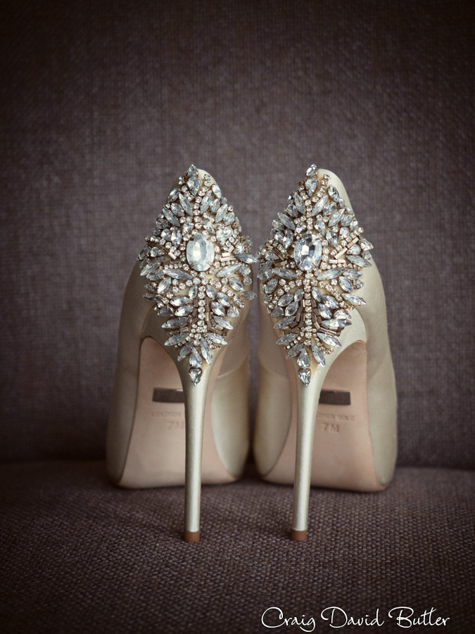 Bride Carly's Wedding Shoes Bagley & Micschka