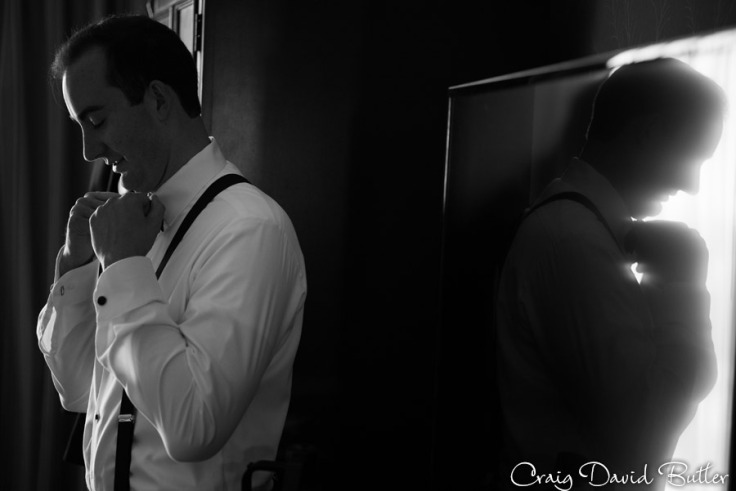 Groom prep shot - reflection